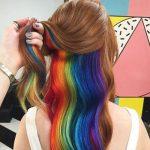 Rainbow Peekaboo Hair
