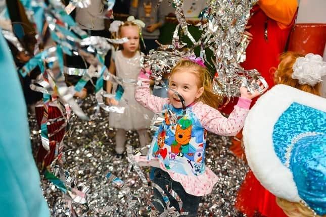 Kids enjoying birthday party