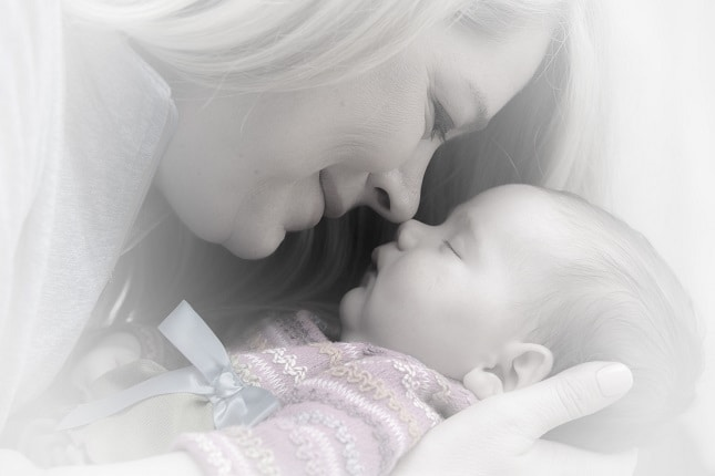 Image indicate a love of mother to her child